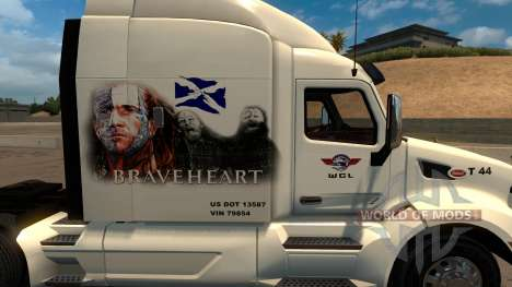 Peterbilt 579 Braveheart Truck Skin para American Truck Simulator