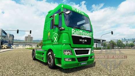 Raiffeisen de la piel en el camión MAN para Euro Truck Simulator 2