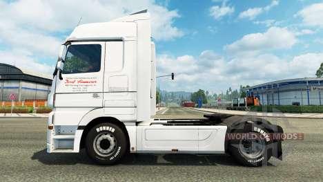 La piel de J. Simmerer en la unidad tractora Mer para Euro Truck Simulator 2