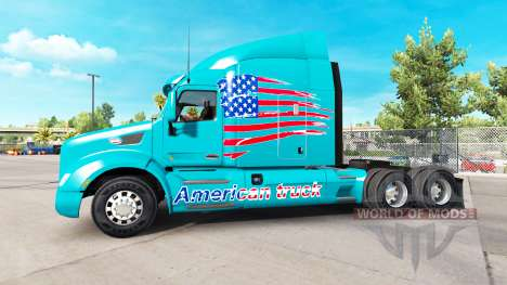La piel de América Camión en camión Peterbilt para American Truck Simulator
