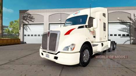 La piel Wallbert en un Kenworth tractor para American Truck Simulator