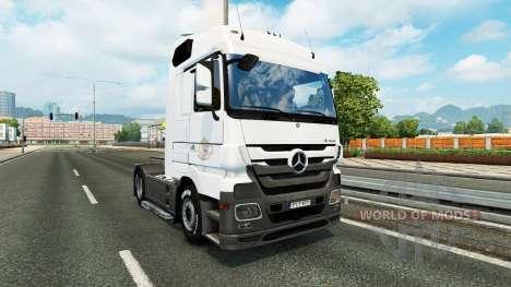 La piel Coppenrath & Wiese en la unidad tractora para Euro Truck Simulator 2