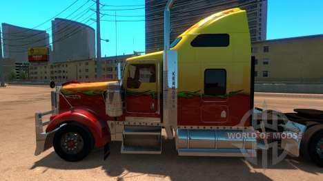 Kenworth W900 Sunny paintjob para American Truck Simulator