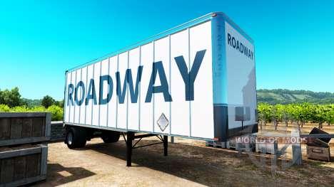 La piel de la Calzada en el remolque para American Truck Simulator