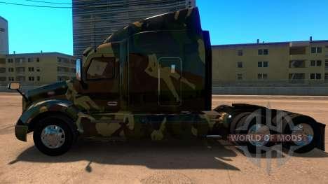 La piel de Camuflaje para Peterbilt 579 para American Truck Simulator