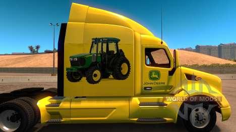 John Deere de la piel para Peterbilt 579 para American Truck Simulator