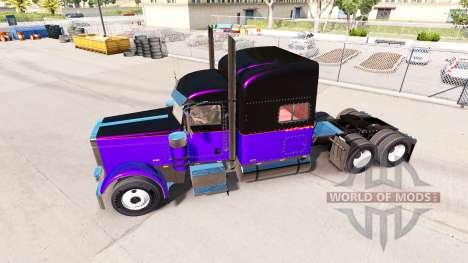 Metálicos, las pieles para el Peterbilt 389 trac para American Truck Simulator