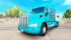 La piel de América Camión en camión Peterbilt