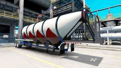 Semi-remolque, camión de cemento