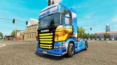 La piel de la Isla en la unidad tractora Scania