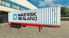 El Semi-Remolque De Maersk Sealand