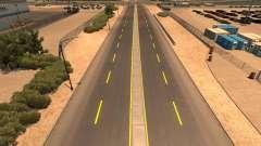 Amarillo marcas de la carretera
