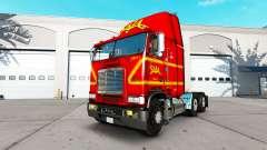 La piel en SAIA de camiones Freightliner FLB
