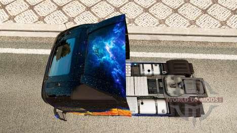 Fuego azul de la piel para camiones Volvo para Euro Truck Simulator 2