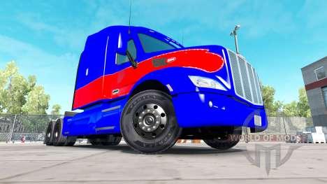 El rojo y el azul de la piel para el camión Pete para American Truck Simulator