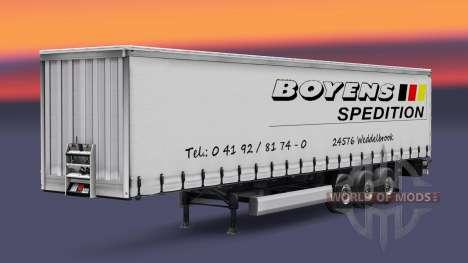 La piel Boyens v1.1 en el remolque para Euro Truck Simulator 2