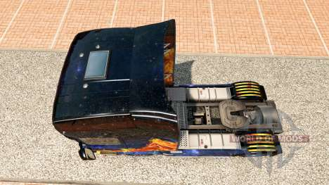 Fuego azul de la piel para Scania camión para Euro Truck Simulator 2
