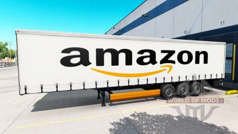 La piel de Amazon en el remolque para American Truck Simulator