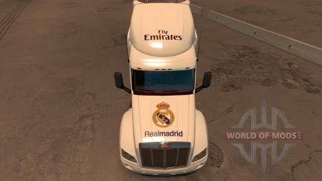 Peterbilt 579 Real Madrid Skin para American Truck Simulator