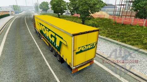 Voigt Logística skin v1.2 on the trailer para Euro Truck Simulator 2