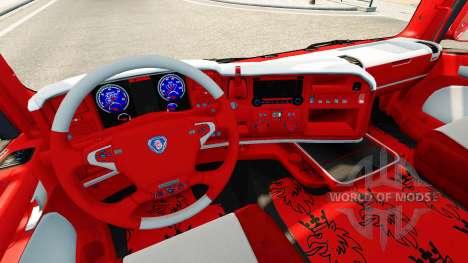 La piel de Coca-Cola en el tractor Scania para Euro Truck Simulator 2