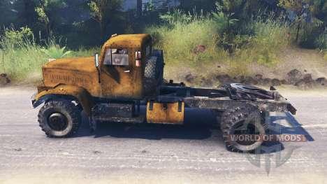 Kraz-258 para Spin Tires