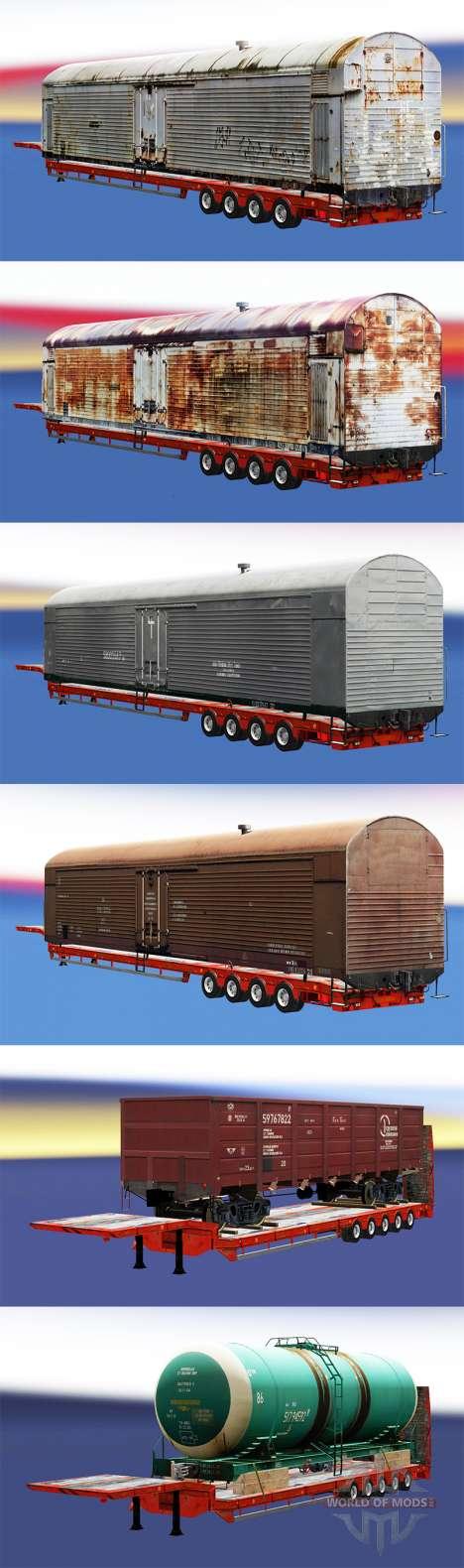 Semi-remolques con zeleznodoroznyj composiciones para Euro Truck Simulator 2