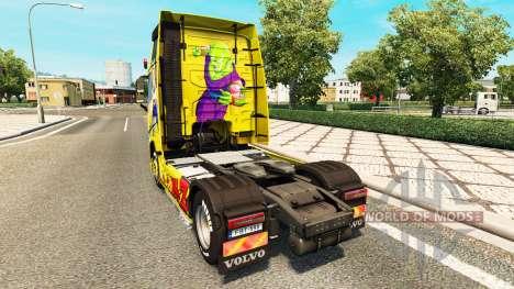 La piel de Dragon Ball Z para Volvo trucks para Euro Truck Simulator 2