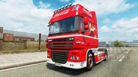La piel de Coca-Cola en el camión DAF para Euro Truck Simulator 2