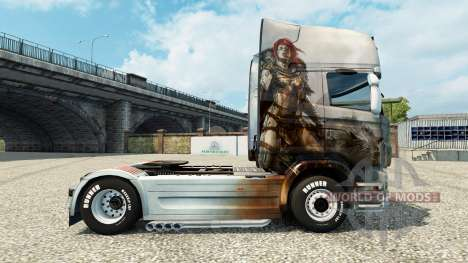 La piel de Guild Wars 2 Norn en el tractor Scani para Euro Truck Simulator 2