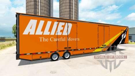 El semi-remolque, camión de mudanzas RD para American Truck Simulator