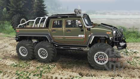 Hummer H2 6x6 [diesel][03.03.16] para Spin Tires