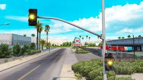 Tiempo amarillo de las luces del semáforo para American Truck Simulator
