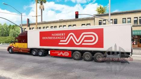 Norbert Dentressangle en la piel de un remolque para American Truck Simulator