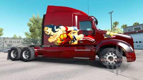 La Mujer maravilla de la piel para el camión Pet para American Truck Simulator