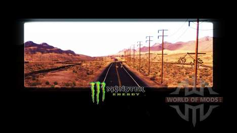 Monster Energy en las pantallas de carga para American Truck Simulator
