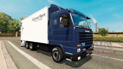 Скин Scania Alquiler на Scania 143M BDF para Euro Truck Simulator 2