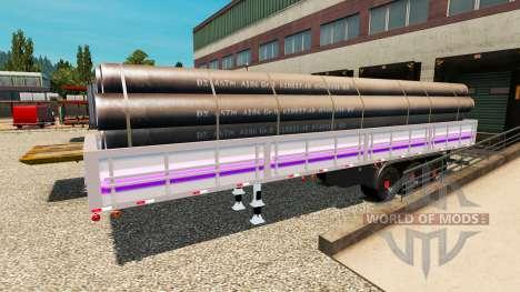 Semi remolque de cama plana para Euro Truck Simulator 2