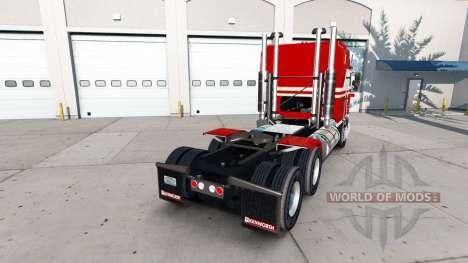 La piel Blanca Y Roja para el tractor Kenworth K para American Truck Simulator