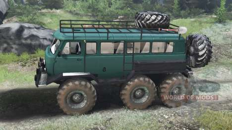 UAZ-3309 6x6 [03.03.16] para Spin Tires