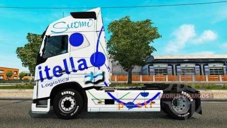 Itella de la piel para camiones Volvo para Euro Truck Simulator 2