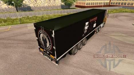 La piel de alto Secreto Independiente en el remo para Euro Truck Simulator 2