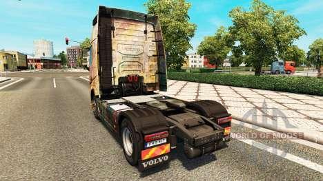 La piel en la Nebulosa de Grunge de Volvo trucks para Euro Truck Simulator 2