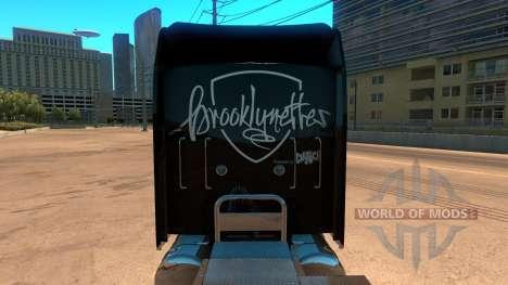 Kenworth W900 Brooklyn Nets Skin para American Truck Simulator