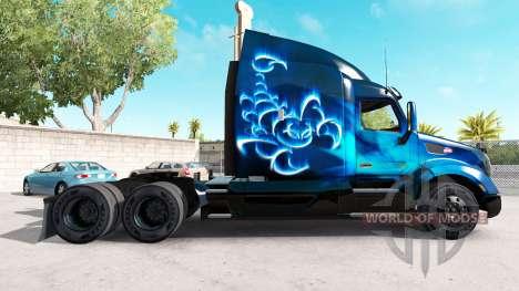 Escorpión Azul de la piel para el camión Peterbi para American Truck Simulator