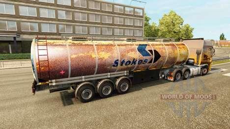 Rusty pieles para remolques para Euro Truck Simulator 2