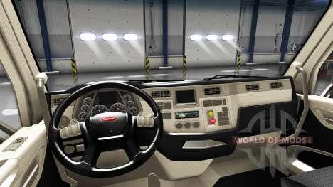Rediseñado el interior en un Peterbilt 579 para American Truck Simulator