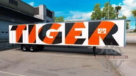 La piel de Tigre en el remolque para American Truck Simulator