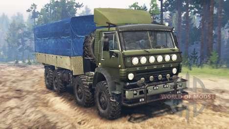 KamAZ-6350 Mustang v3.0 para Spin Tires