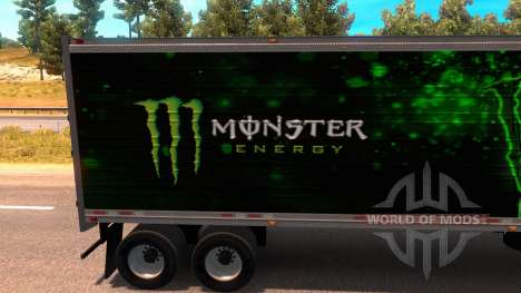 Monster Energy Trailer para American Truck Simulator